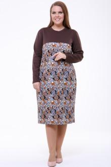 Платье 1822-045 Грация Стиля (Шоколад)