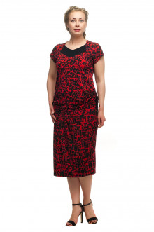"""Блузка+юбка """"Олси"""" 1711003V (Красный)"""