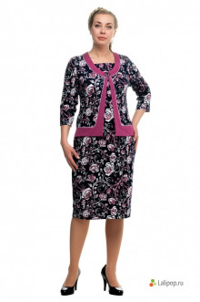 """Платье """"Олси"""" 1705012 ОЛСИ (Розовый/цветы)"""
