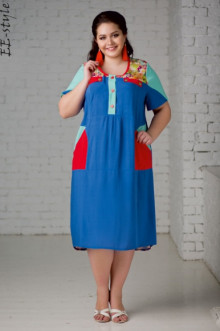 """Платье """"Её-стиль"""" 2010 ЕЁ-стиль (Небесный)"""
