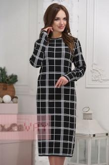 Платье женское 2291 Фемина (Черный/белый)