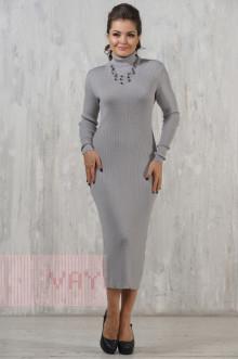 Платье женское 2237 Фемина (Светло-серый)